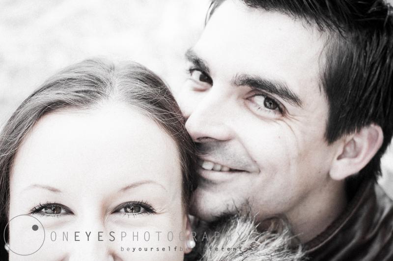 Paar-Foto-Shooting mit Maria und Bruno im Winter