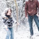 Foto-Shooting zu zweit im Winter