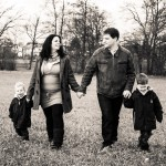 Familienfotos vor der Hochzeit