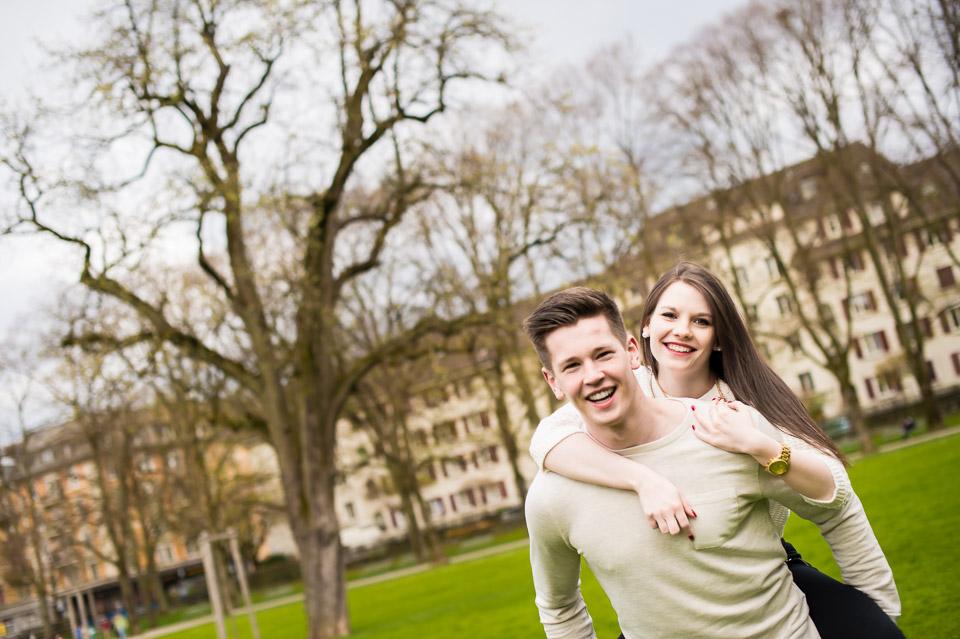 Natürliche Fotos von Paar in Zürich