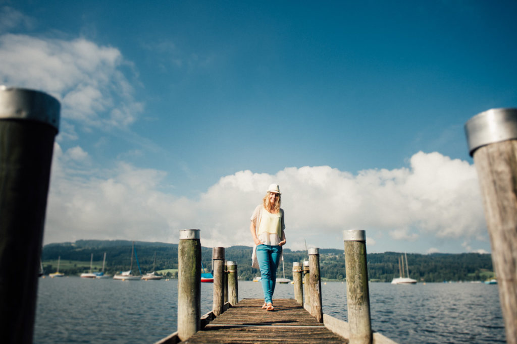 Fotoshooting am See