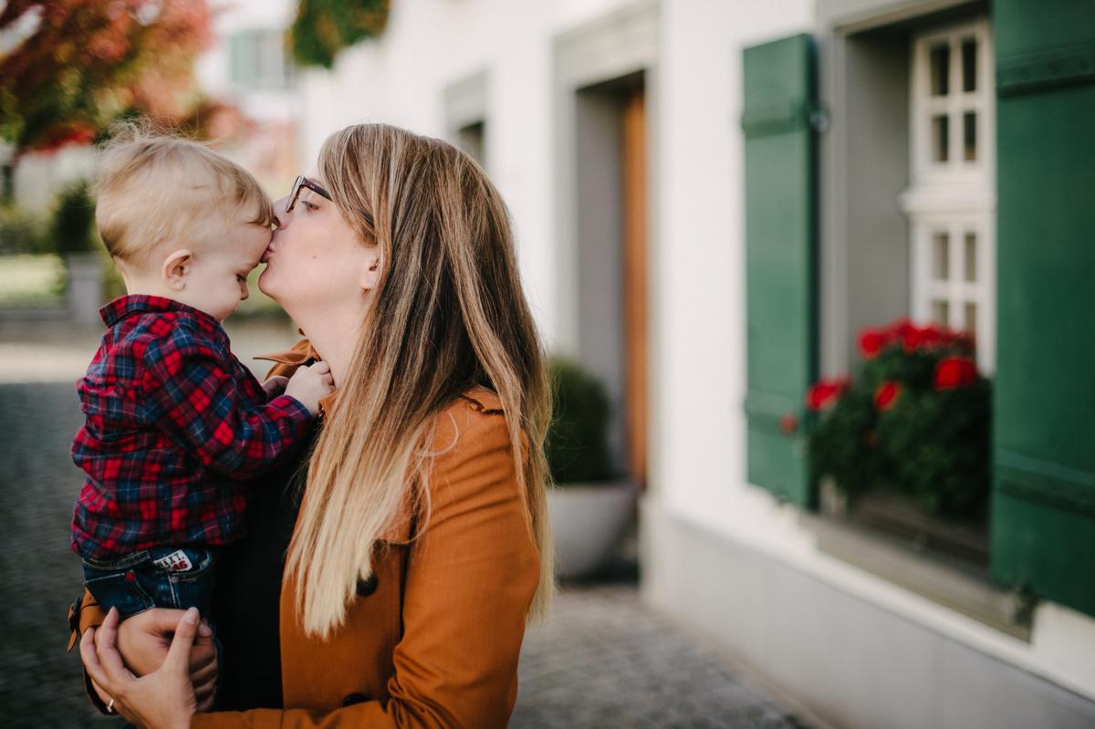 Foto Mutter und Sohn