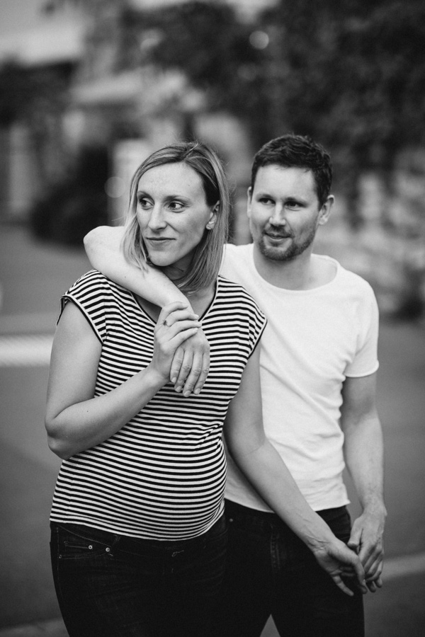 Fotoshooting Urban Paare schwanger