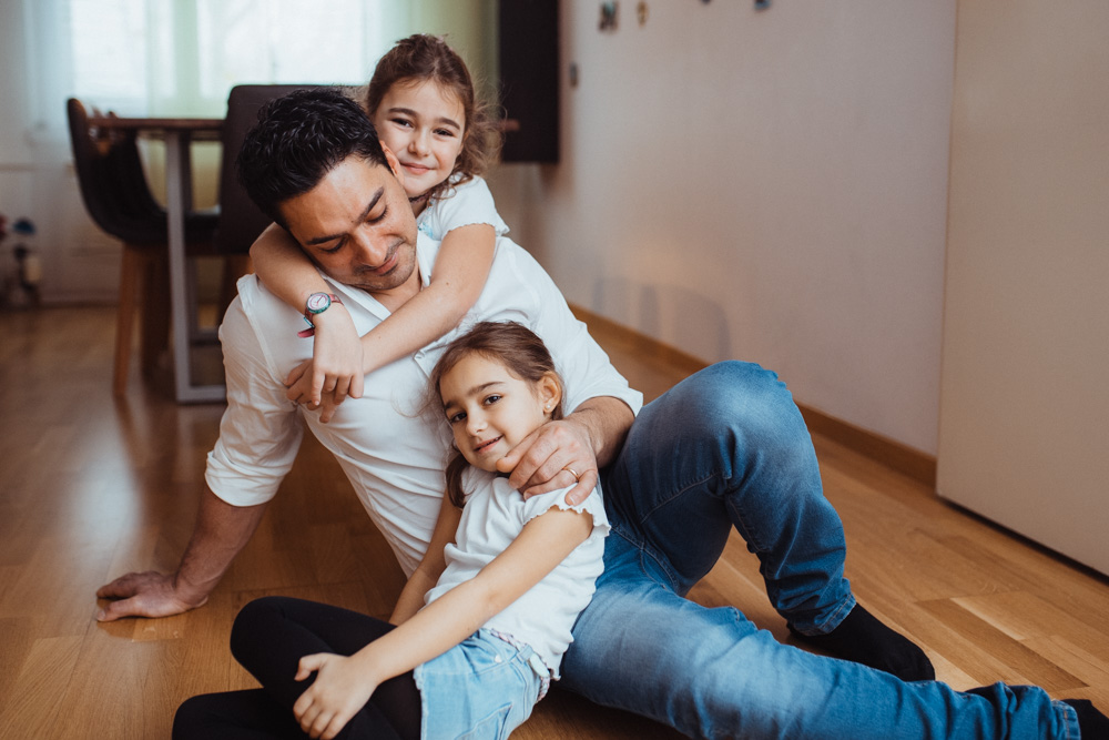 Fotoshooting Familie zu Hause