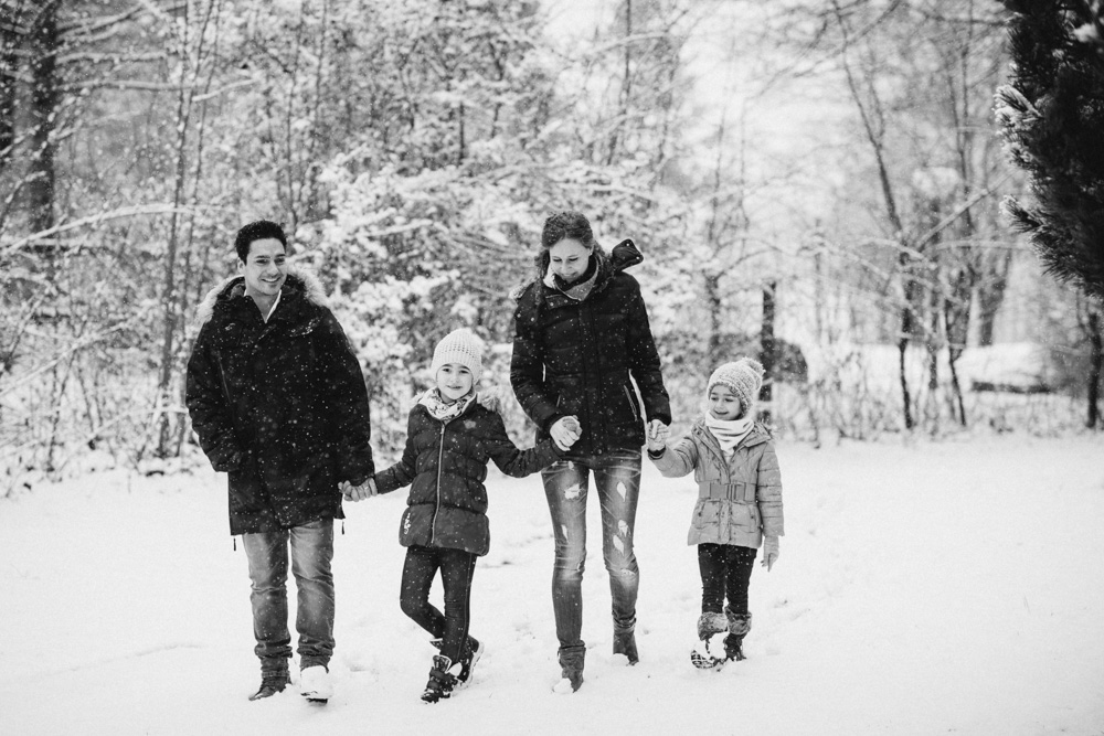Familien-Fotoshooting Winter