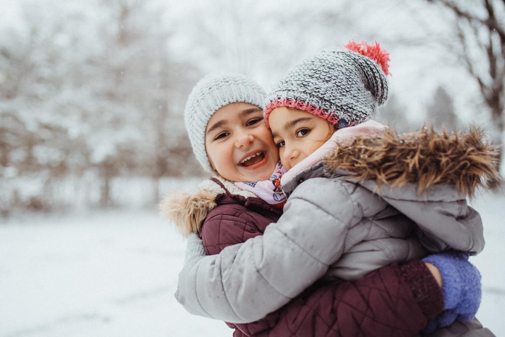 Porträt Kinder im Winter
