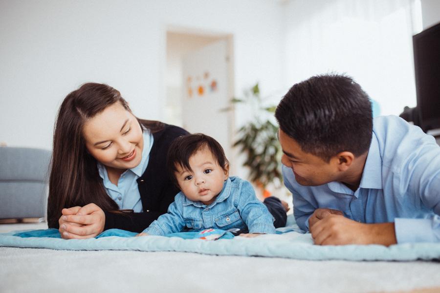 Fotoshooting Baby zu Hause