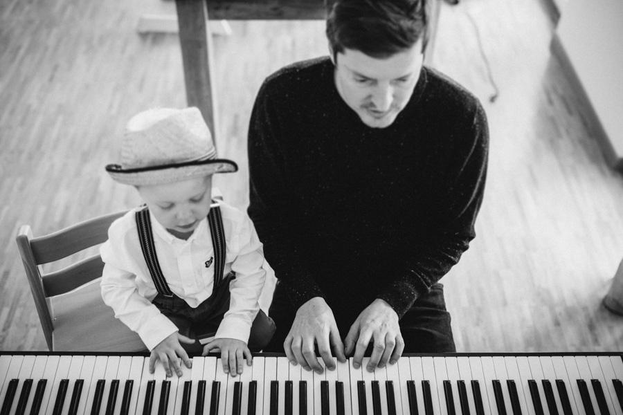 Ein musikalisches Familien-Fotoshooting in Zürich