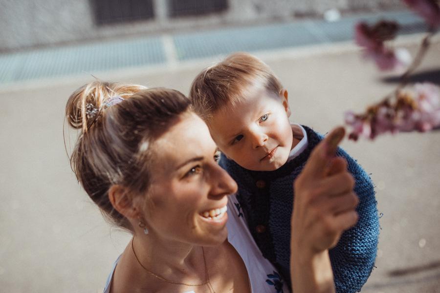 Familienfotos an der frischen Luft