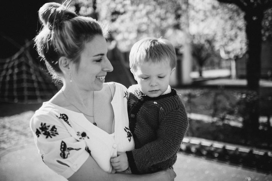 Mutter und Sohn Fotoshooting