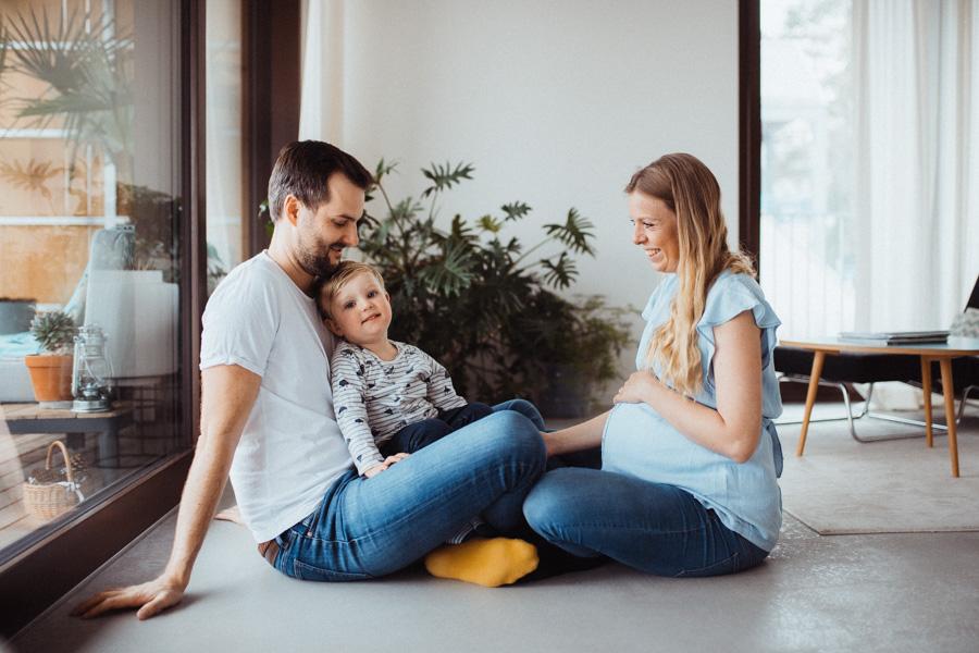 Fotoshooting Babybauch zu Hause