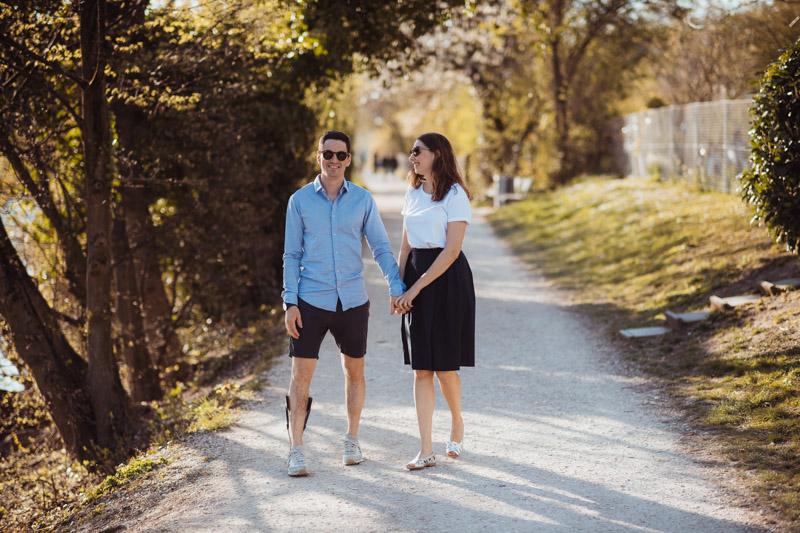 Fotoshooting draussen Paare